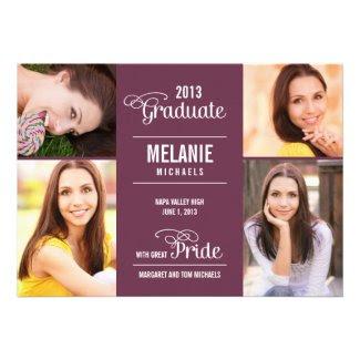 Great Pride Graduation Invitation /Announcement