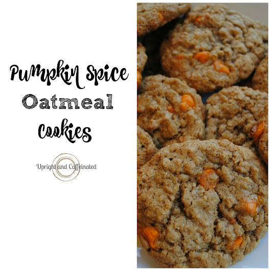 Pumpkin Spice Oatmeal Cookies - Upright and Caffeinated