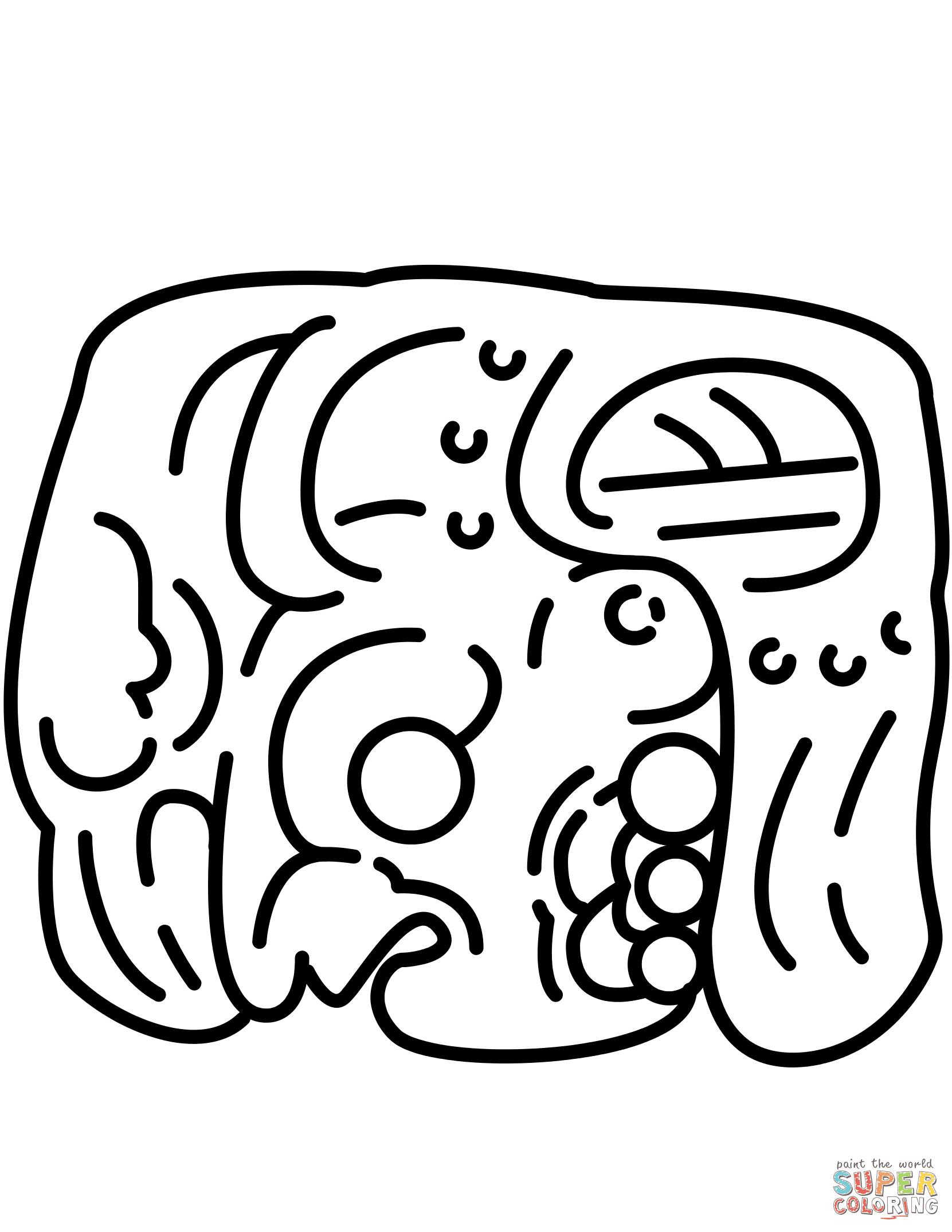 Dibujo De Glifo Maya Para Colorear Dibujos Para Colorear Imprimir