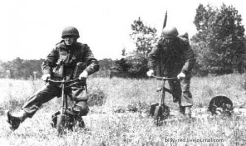Один из самых необычных мотоциклов времен 2-ой Мировой войны