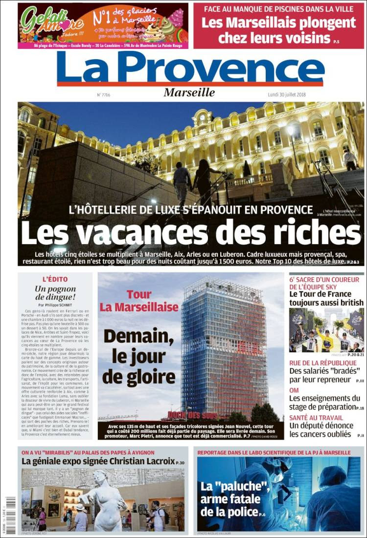 Newspaper La Provence France Newspapers In France