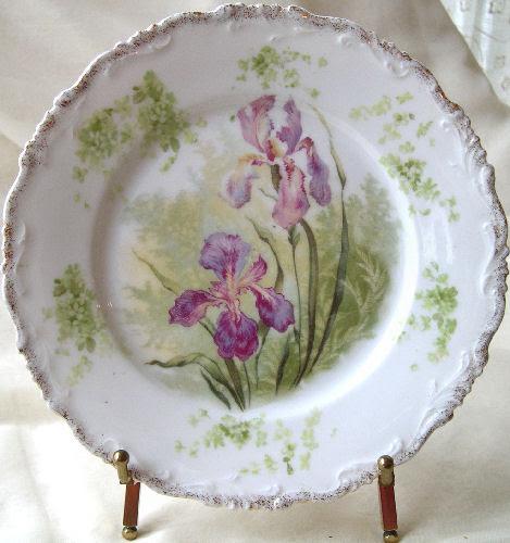 RC Bavaria Vintage Porcelain Plate - Alice Iris