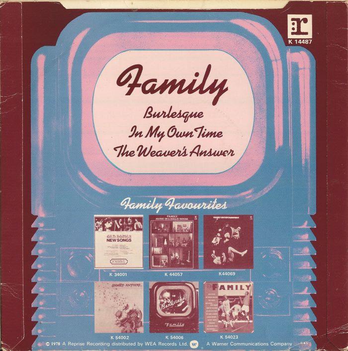 45cat Family Burlesque The Weavers Answer Reprise Uk K 14487