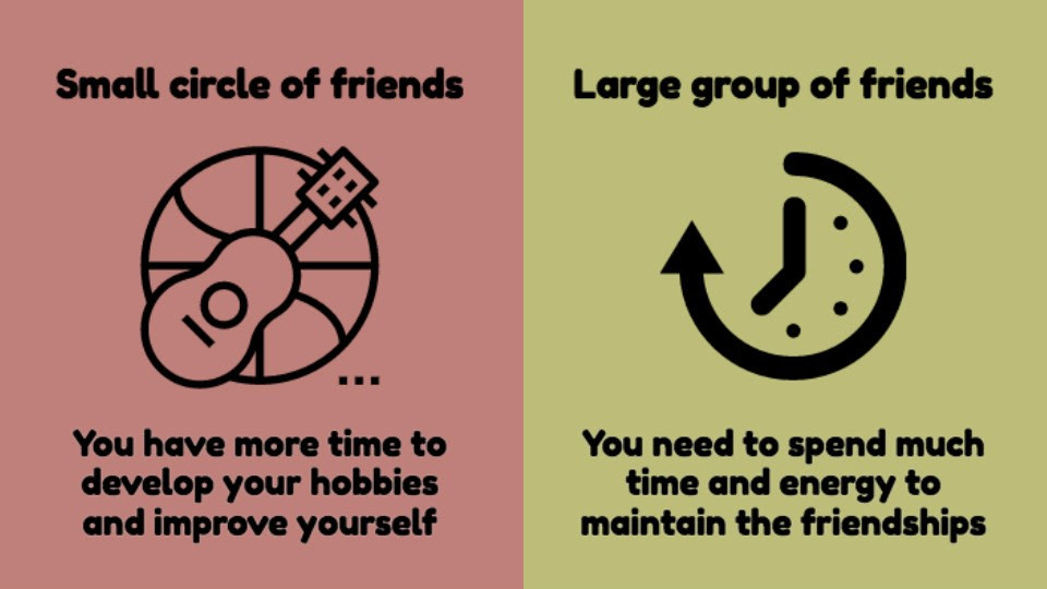 8 Illustrations Explaining Why Keeping A Small Circle Of Friends Is