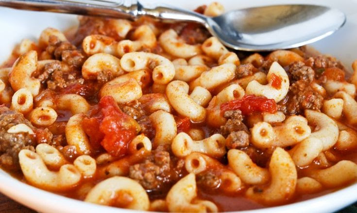 American Goulash ~ The brown sugar is a nice touch!