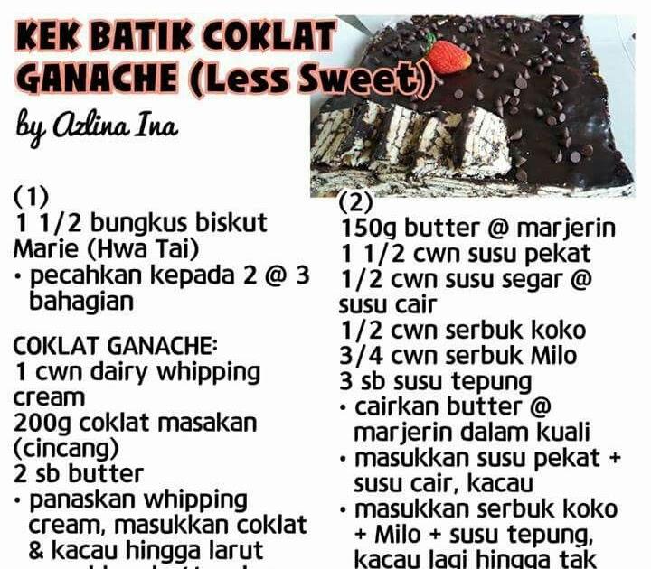 Resepi Coklat Ganache Azlina Ina Copd Blog T