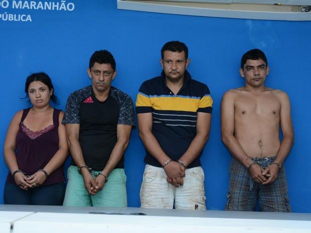 Suspeitos possuem extensa ficha criminal, segundo a Secretaria de Segurança Pública do MA (Foto: Divulgação/SSP-MA)