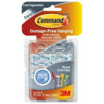 3M Command Clear Round Cord Clips with Clear Strips