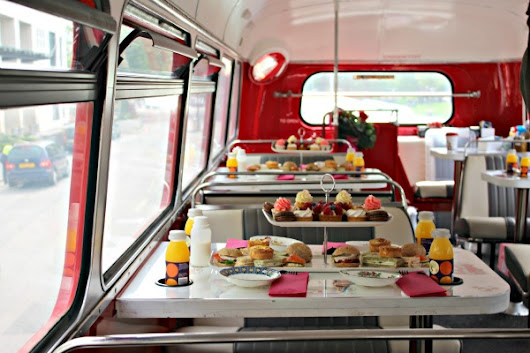 BB Afternoon Tea on a Double Decker Bus  | London: Tea Time in Wonderland