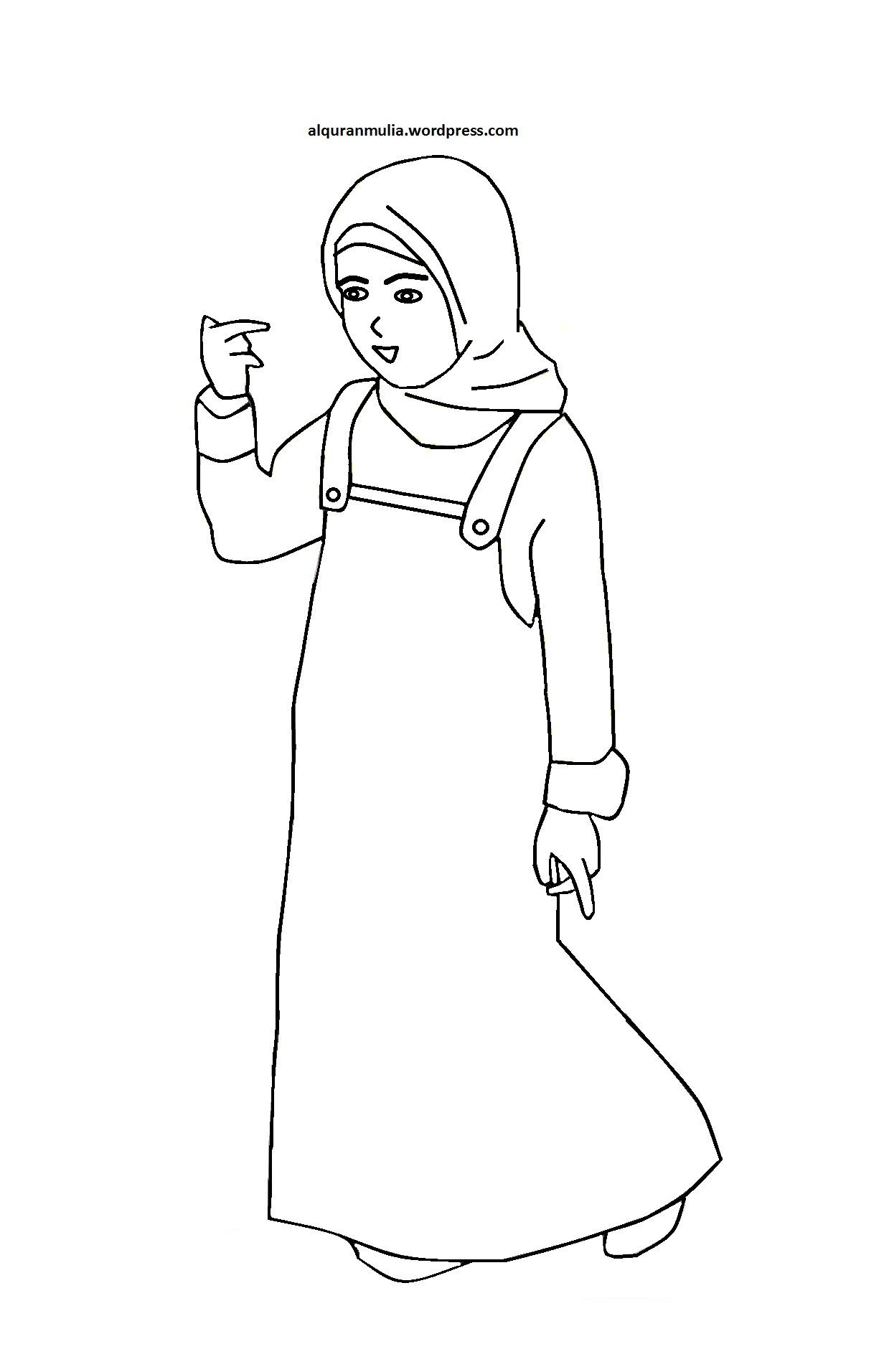 Download 31 Gambar Mewarnai Anak Muslim Auto Electrical Wiring Diagram