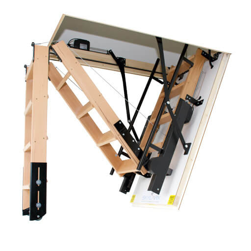 Skylark electric folding attic stairs - Premier Loft Ladders
