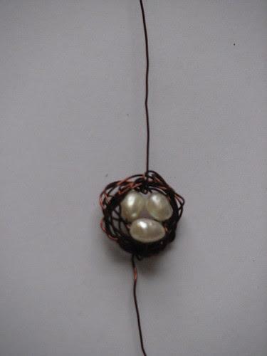 wire bird nest charm 6