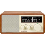 Sangean WR-16 AM-FM Bluetooth Wooden Cabinet Radio