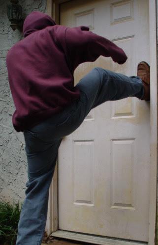 Resultado de imagen para kicking a door