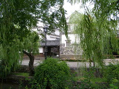 View of canal in preserved area, Kurashiki