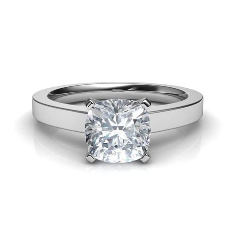 Novo Cushion Cut Solitaire Diamond Engagement Ring Natalie
