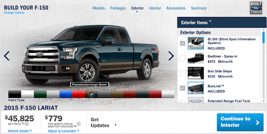 2015 Ford F-150 configurator is ready to go to work