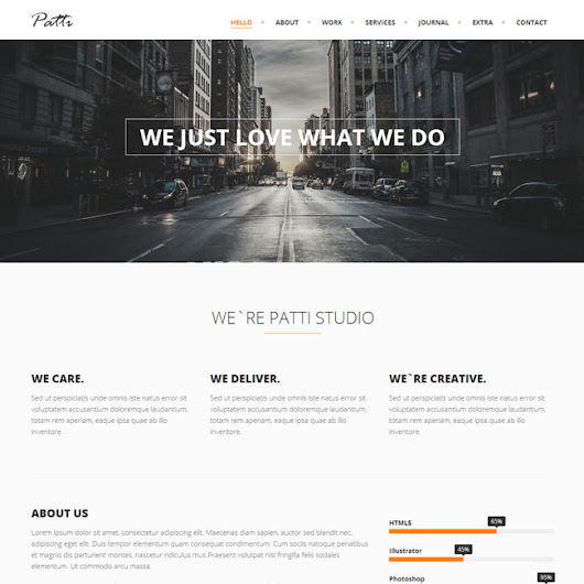 Patti One page WordPress Theme | Best WordPress Themes 2014