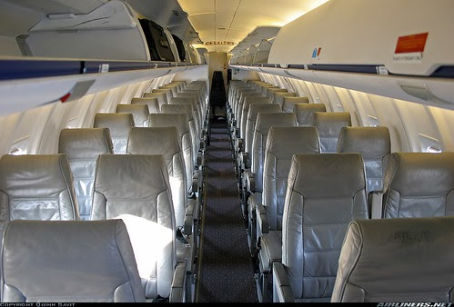 Airplane Pics America West Cl 600 Regional Jet Cabin