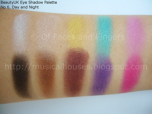 BeautyUK Eyeshadow Palette Day and Night