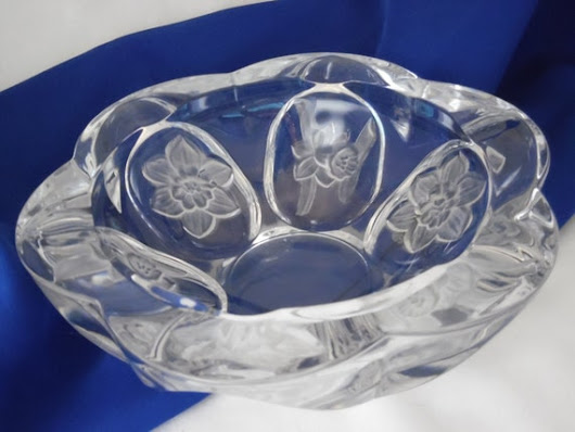 Crystal Ashtray for Weed  Large Heavy Clear by TheMichiganAttic