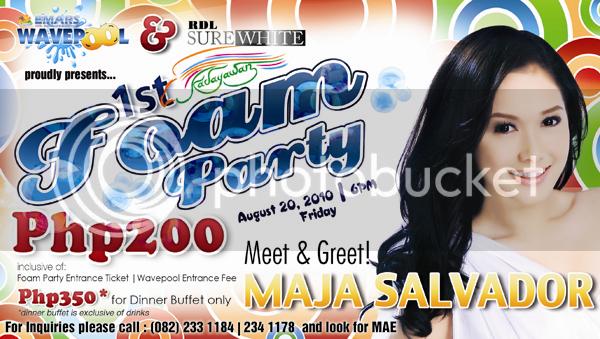 EMARS Wavepool,Wavepool Opening,Maja Salvador,Foam Party,Davao Foam Party