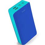 Aduro PowerUp Trio 30,000 mAh SmartCharge Dual USB Backup Battery Blue