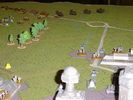 British Brigade approaches Berlin suburbs