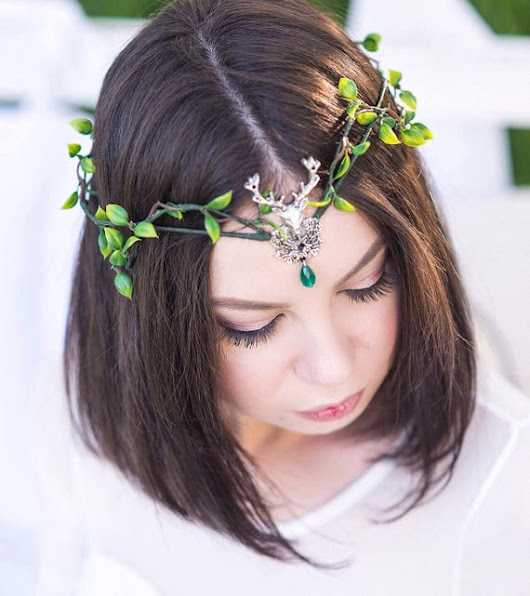 Deer crown Elven circlet Wedding elf crown Medieval Elven antler headpiece Elf tiara fairy crown deer antlers witch crown antler headband