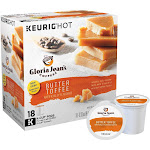 Gloria Jean's Coffee, Medium Roast, Butter Toffee, K-Cup Pods - 18 pack, 0.33 oz pods