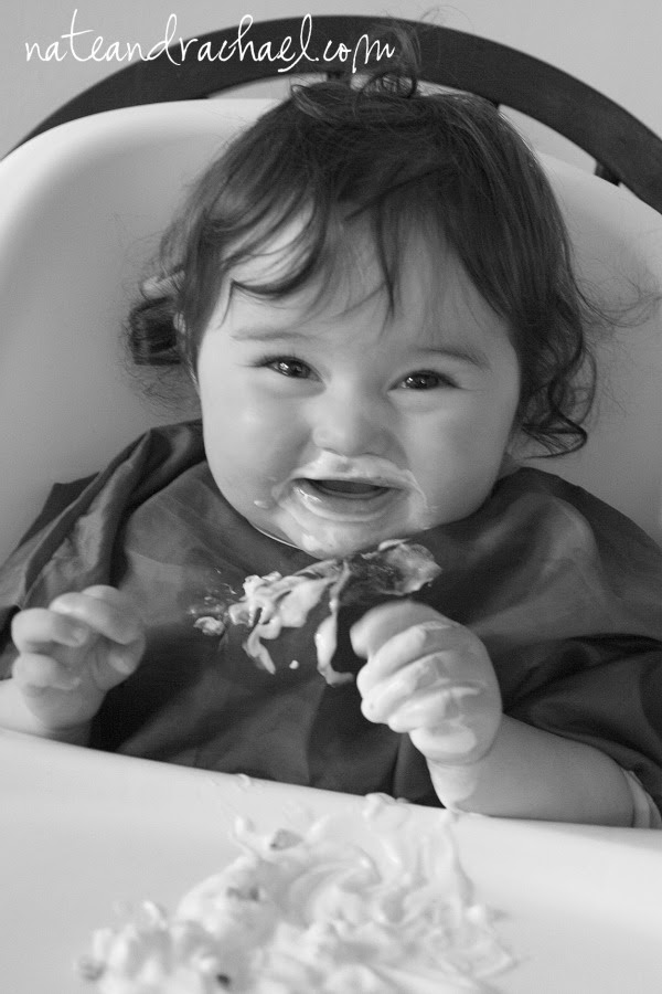 Edible sensory play--yogurt