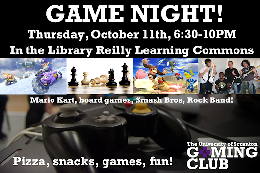 Game Night on October 11th!