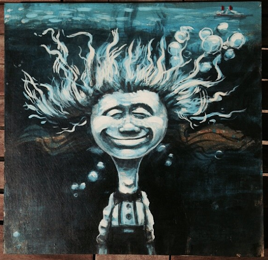 Painting a WEEN album cover.