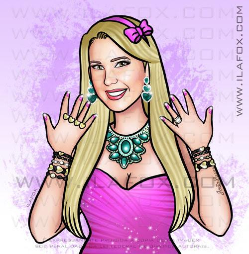 retrato personalizado, retrato para blog, retrato loira com jóias, by ila fox