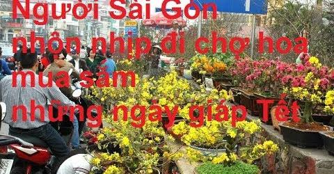 Người Sài Gòn nhộn nhịp đi chợ hoa mua sắm những ngày giáp Tết