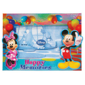 Mickey And Minnie Mouse Celebration Magnetic Photo Holder Monogram