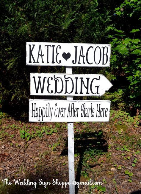 Large Wedding Sign Directional Rustic Wedding Signs