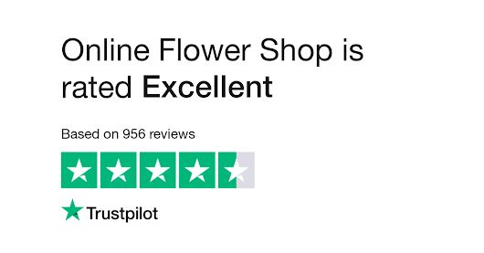 "Online Flower Shop is rated ""Excellent"" with 9.5 / 10 on Trustpilot"