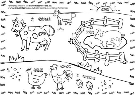 image coloring pages  farm animals  preschoolers