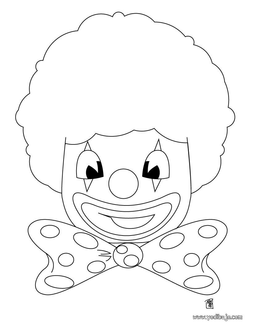Dibujos Para Colorear Cara De Payaso Eshellokidscom