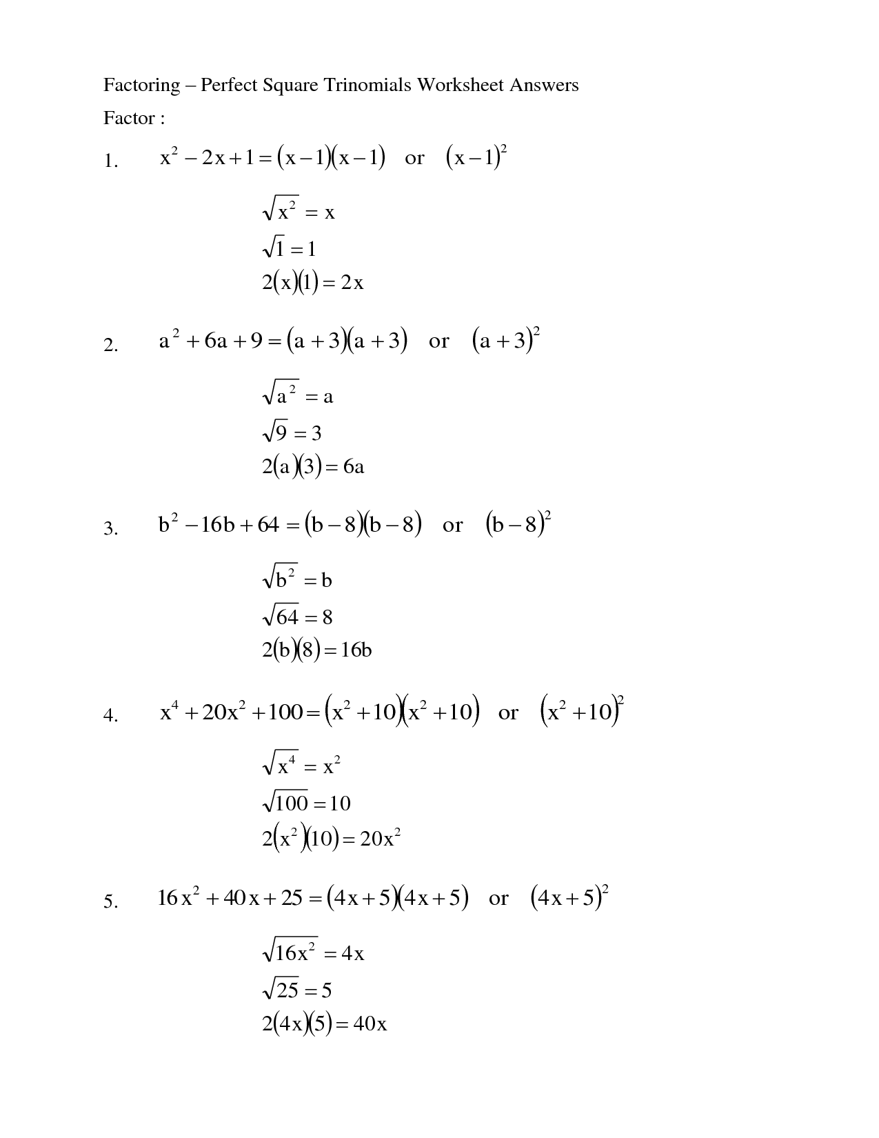 Factoring Trinomials Worksheet Answers Kuta  factoring quadratic trinomials worksheet kuta
