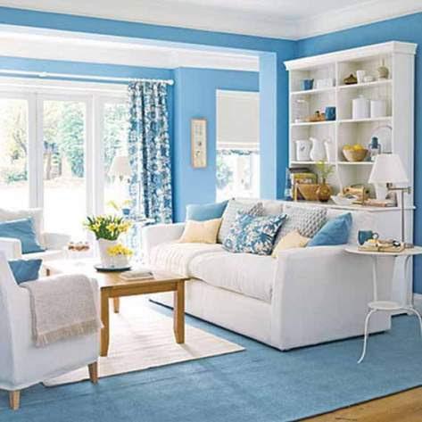 Blue living room decorating ideas - Interior design