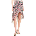The Kooples Womens Candy Floral Silk-Blend Skirt