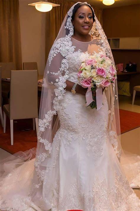2017 Plus Size Wedding Dresses Mermaid Lace Appliques