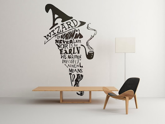 A wizard is never late nor is he early, he arrive precisely when he means to - Wall Decals for Home Decor, Beautiful design, Interior decor