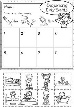 Sequencing Daily Activities Worksheets