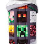 Minecraft Good vs Evil Gray Comforter, Twin