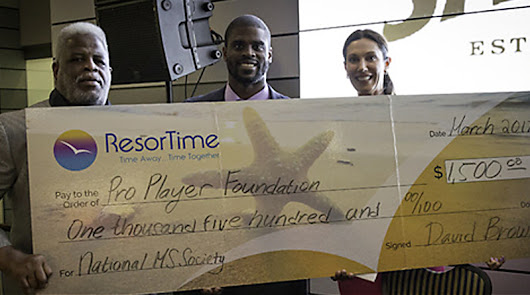 ResorTime Helps Raise $5,000 for the ProPlayer Foundation  to Benefit the National Multiple Sclerosis Society