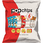 Popchips Sea Salt and Barbeque Multipack Potato Chips - 6ct