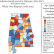 Association between air temperature and deaths due to cancer and heart disease in Alabama
